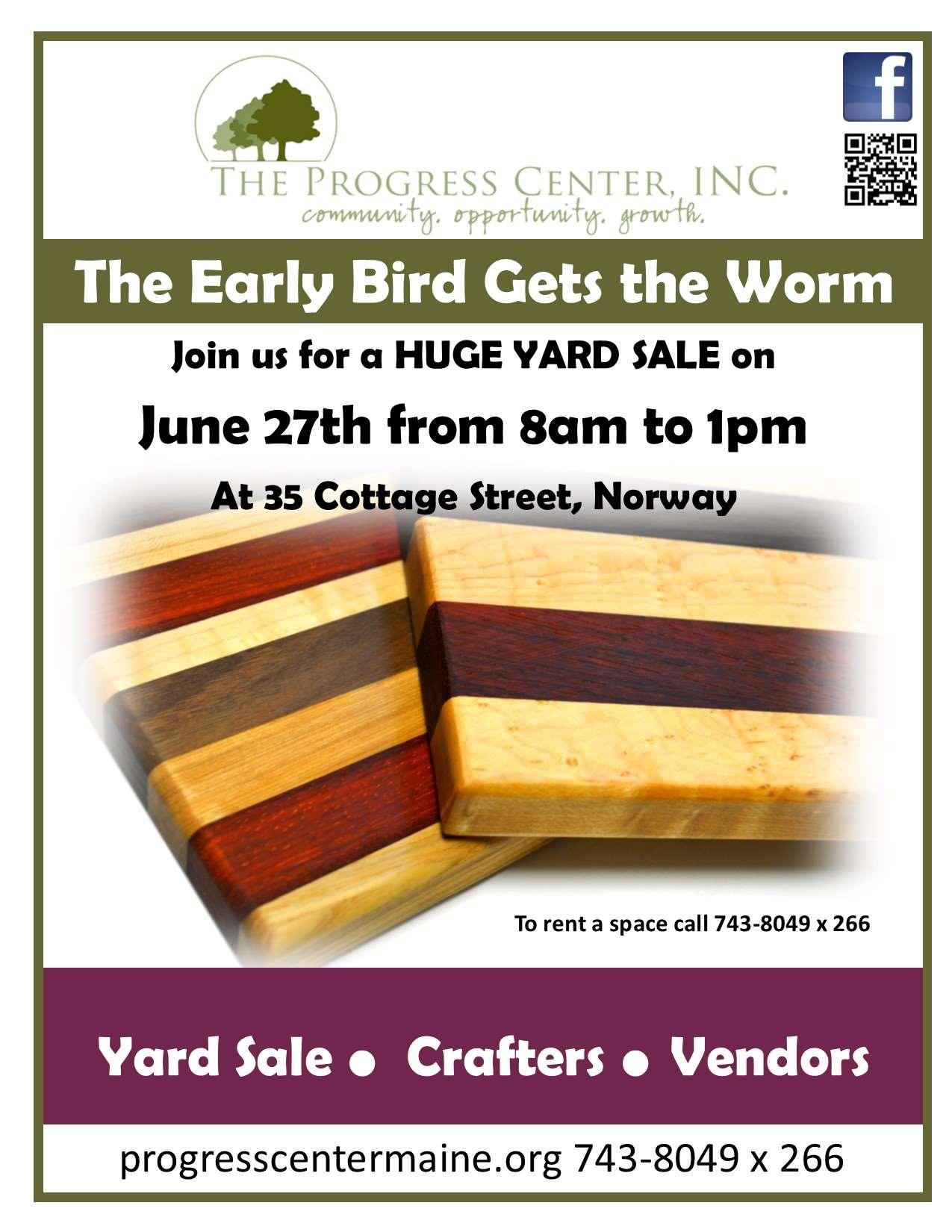 2015 Yard Sale Event flyer